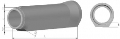 Concrete pipes 2,5m.